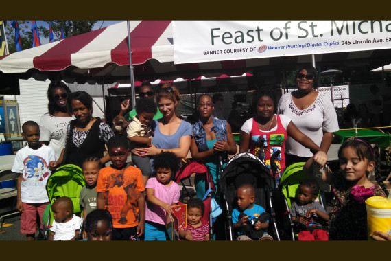 OUR FAMILY PROMISE GUESTS ENJOY THE ST. MICHAEL'S FEAST