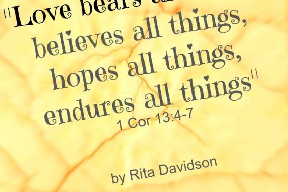 LOVE BELIEVES ALL THINGS